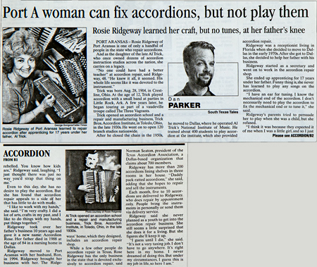Port A Woman can fix accordions, but not play them